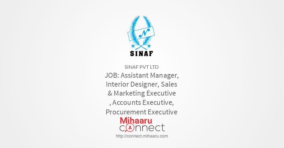 Assistant Manager Interior Designer Sales Marketing Executive Accounts Procurement