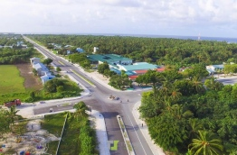 Aerial view of Laamu Atoll's Link Road. PHOTO/THOTTEY'S PHOTOGRAPHY