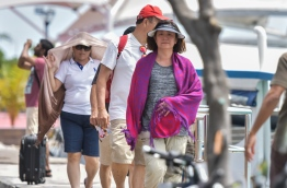 Tourists at Male