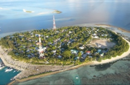 An aerial view of Rasdhoo, Alifu Alifu Atoll. The island faces severe erosion, prompting a need for the coastal protection project. PHOTO: BUDGETHOLIDAYS