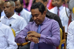 Incumbent President Yameen Abdul Gayoom, set to step out of office on November 17