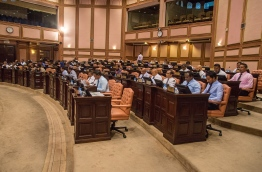 A parliamentary session in progress. PHOTO: HAFEEZA AHMED/ MIHAARU