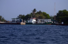 STO's oil storage is in the island of Funadhoo in Kaafu Atoll. PHOTO/MIHAARU