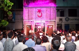 Opening ceremony of PPM's new office building. Allegations have surfaced that MVR 2 million of MITDC's budget was used to pay for the building's construction. PHOTO: MIHAARU / NISHAN ALI.