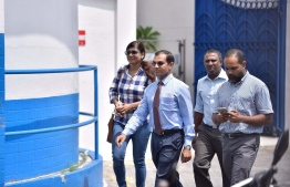 Former brigadier general and Hithadhoo Central MP Ibrahim Mohamed Didi arrives at the Criminal Court. FILE PHOTO/MIHAARU