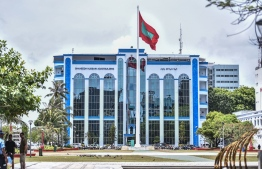 Police headquarters in the capital city of Male'. PHOTO: HUSSAIN WAHEED / MIHAARU