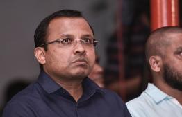 Former CP Abdulla Riyaz. PHOTO: MIHAARU