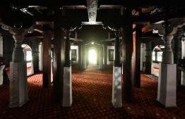Inside 'Hukuru Miskiyy', the Old Friday Mosque in Male' City. PHOTO/MIHAARU