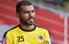 Former national team goalkeeper Imran Abdulla. PHOTO: NISHAN ALI/MIHAARU