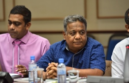 Newly appointed leader of the PPM (Progressive Party of Maldives) parliamentary group Eydhafushi MP Ahmed Saleem