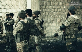 Maldivian insurgents in Syria. PHOTO: UNKNOWN