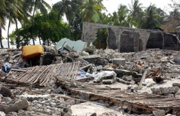 The aftermath of the 2004 Indian Ocean Tsunami in Th.Vilufushi. FILE PHOTO/MIHAARU