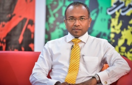 Hassan Latheef, chairperson of MDP. PHOTO: NISHAN ALI/MIHAARU