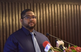 Attorney General (AG) Mohamed Anil speaking during an event.