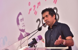 PPM Jalsa at Rumaalu 2 / president yamin - economic minister saeed