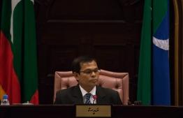 Majilis Speaker Abdulla Maseeh Mohamed