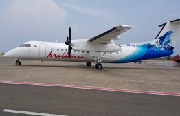 An aircraft of Maldivian, the national carrier of Maldives, which is operated by Island Aviation Services. FILE PHOTO/MIHAARU