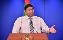 State representative at all-party talks Minister of Fisheries and Agriculture Dr Mohamed Shainee.