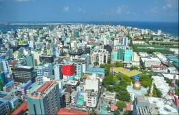 View of Male City from the rooftop of Dharumavantha Hospital. PHOTO: HUSSAIN WAHEED/MIHAARU