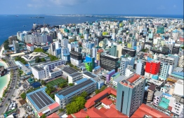 View of Male City from the rooftop of Dharumavantha Hospital. PHOTO/MIHAARU