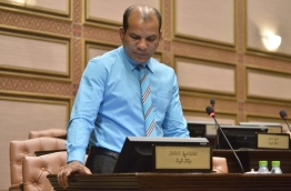 Ruling lawmaker and Dhidhdhoo constituency MP Abdul Latheef Mohamed pictured in Parliament. FILE PHOTO
