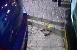 Scene of a stabbing attack in the capital Male on Friday. MIHAARU PHOTO