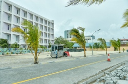 The area of the western artificial beach area where the complex will be developed. MIHAARU PHOTO