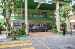 The entrance to the Finance Ministry building where the Maldives Inland Revenue Authority office is located. MIHAARU PHOTO