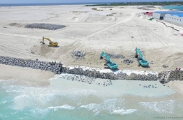 The land reclaimed under the Hulhumale Second phase. PHOTO/HDC