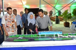 President Abdulla Yameen Abdul Gayoom and First Lady Fathimath Ibrahim inaugurates the new terminal project at INIA. PHOTO/PRESIDENT'S OFFICE