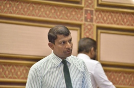 MP Riyaz Rasheed looks on during a parliament sitting. FILE PHOTO/PARLIAMENT SECRETARIAT