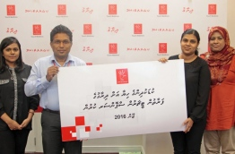 Dhiraagu has sponsored the staff of Kuda Kudhinge Hiya since 2008 and provided relief and aid to the shelter in various forms. PHOTO/DHIRAAGU