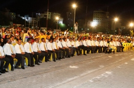 An earlier MDP rally held in the capital Male. PHOTO/MDP