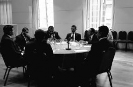 A sit-down of the newly formed opposition coalition in UK.