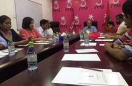Gayoom chairs the council meeting on Tuesday before his half brother's faction walked out.