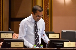 Ungoofaaru MP Jaufar Dawood pictured in parliament. PHOTO/PARLIAMENT SECRETARIAT