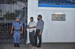 Humam's family gathered near the Supreme Court as it upheld the death sentence for the 22 year old for the murder of prominent lawmaker Dr Afrasheem. MIHAARU FILE PHOTO/NISHAN ALI