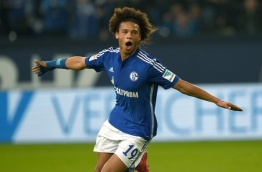 Schalke confirm Sane has signed for Manchester City on August 2, 2016. / AFP PHOTO / PATRIK STOLLARZ