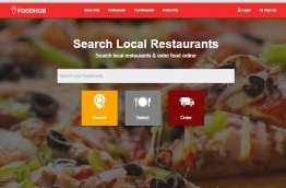 A screen shot of the FoodHub website.
