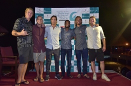 Some of the surfers competing in the Four Seasons' Surfing Champions Trophy this year. MIHAARU PHOTO/NISHAN ALI