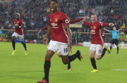 Manchester united won the game 1-0. / AFP PHOTO / Lindsey PARNABY