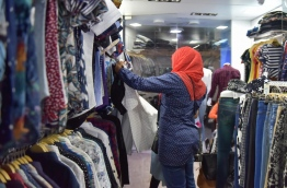 A woman pictured in a clothing store in the capital Male. MIHAARU FILE PHOTO/MOHAMED SHARUHAAN