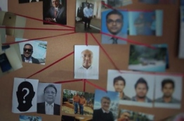 "A screen grab of the Al Jazeera documentary ""Stealing Paradise' shows the web of top government officials and secret foreign businessmen involved in the scandal to steal and launder millions of dollars from the state coffers."
