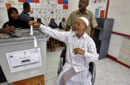 A man casts his ballot during a previous election. AP FILE PHOTO