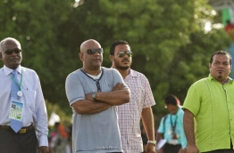 Former defence minister Ameen Faisal (2nd L).