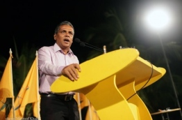 Former MDP chairperson pictured during a party rally. MDP FILE PHOTO/MAUROOF KHALEEL