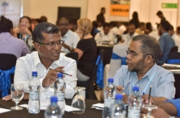 Guesthouse owners at BML Guesthouses Maldives Conference. PHOTO: NISHAN ALI/MIHAARU