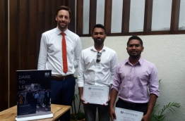 Chevening Scholars for 2016/2017 with Second Secretary Political, British High Commission Colombo Mr. Tom Soper (L). PHOTO/UK HIGH COMMISSION
