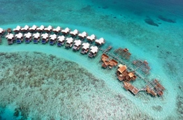 Aerial view of over-water villas being developed in K. Kohdhipparu. PHOTO/KOHDHIPPARU INVESTMENTS