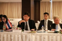 The delegation from Thailand at the second meeting of the Maldives-Thailand Joint Trade Committee meeting. PHOTO: ECONOMIC MINISTRY